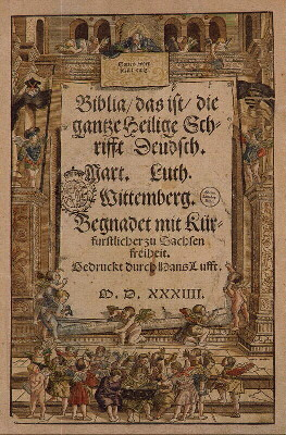 Martin Luther's German Bible